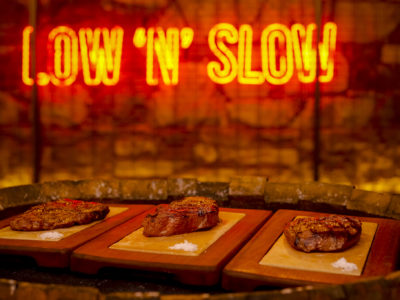 Flat Iron, Picanha and Rump Steaks at Holy Smoke