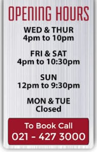 Holy Smoke Opening Hours